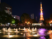 Sapporo TV tower seen from the Odori Park