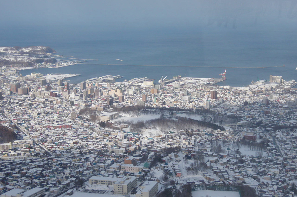 Otaru city view from Mt.Tengu